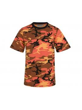 Κοντομάνικο Μπλουζάκι Πορτοκαλί Παραλλαγής Ηλιοβασιλέματος